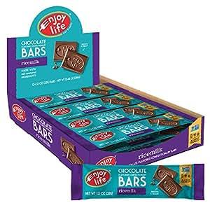 Enjoy Life Chocolate Bars, Soy free, Nut free, Gluten free, Dairy free, Non GMO, Vegan, Ricemilk, 1.12 Ounce Bars (Pack of 24)