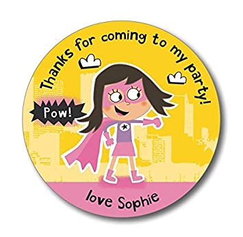 15 personalised party thank you stickers party seals add your own name super