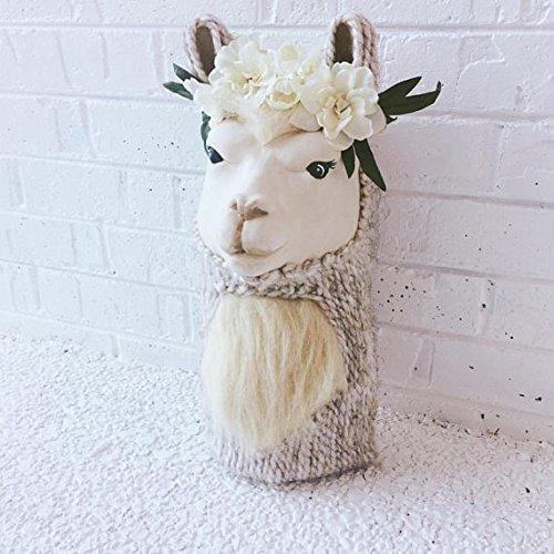 91cc5b05 Amazon.com: Faux Taxidermy Llama Wall Mount with Flower Crown, Llama ...