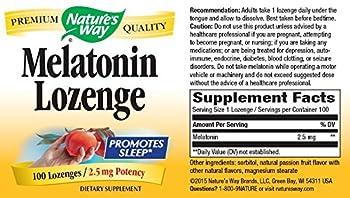 Nature's Way Melatonin Lozenge Fruit - 2.5 mg - 100 Lozenges