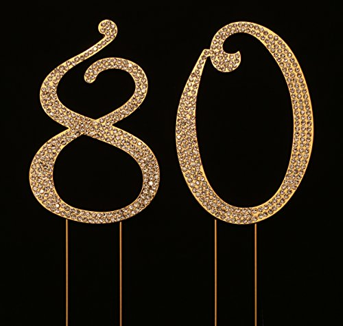 Numbrer 80 for 80th Birthday or Anniversary Cake Topper P...