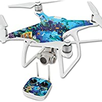 MightySkins Skin For DJI Phantom 4 Quadcopter Drone – Ocean Friends Protective, Durable, and Unique Vinyl Decal wrap cover | Easy To Apply, Remove, and Change Styles | Made in the USA