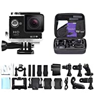 eXuby Pro X Action Camera and Shockproof Case - A Highly Durable Helmet Camera - A HD Digital Sport Camera with Waterproof Case - Best Waterproof Camera with WiFi - An Action Cam With 2 Inch Display