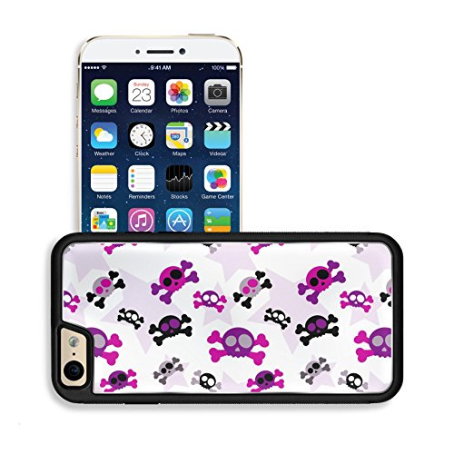 Luxlady Premium Apple iPhone 6 iPhone 6S Aluminum Backplate Bumper Snap Case IMAGE ID: 32541405 Girly skull (Cute Halloween Wallpaper Iphone)