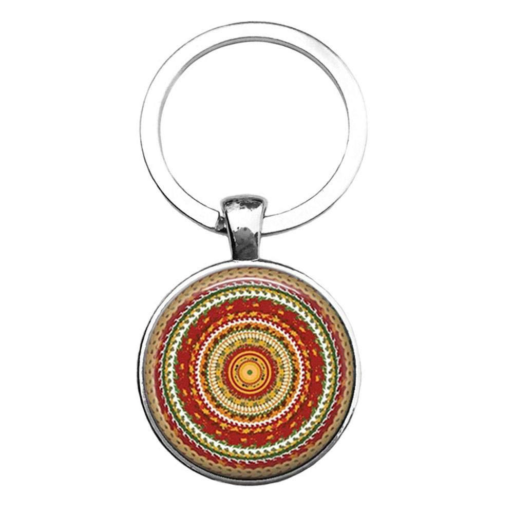 Llavero Budista Sagrado Geometría Yoga Mandala Llavero Flor ...