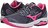 Mizuno Women's Wave Inspire 14 Running Shoe, Folkstone Gray/Pink glo, 12 B US