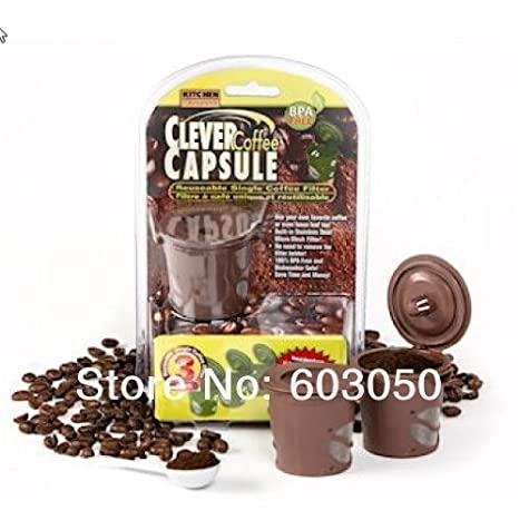 Amazon.com: Clever Cápsulas de Café, color café reutilizable ...