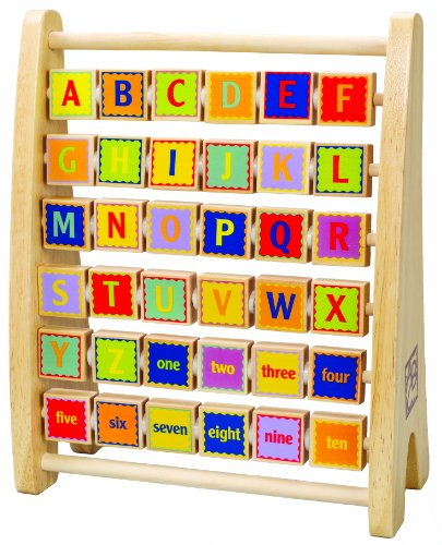 Hape Alphabet Abacus Wooden Learning Toy ()