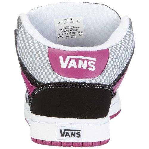 Vans W KAYLYN MID VINL1EU - Zapatillas de deporte de cuero para mujer Negro ((Mnichk)Blk/Gry)