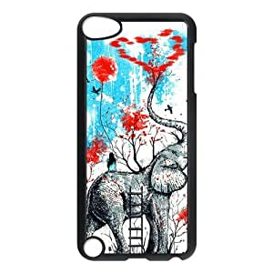 Artistic Girly Popular Elephant Ipod Touch 5th Case Cover Heart love