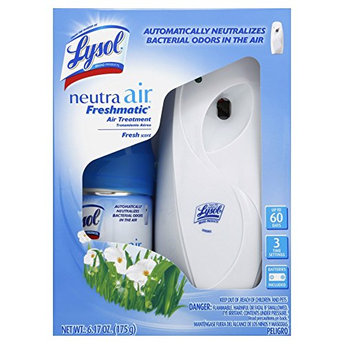Air Dispenser - Lysol Neutra Air Freshmatic Automatic Spray Kit (Gadget + 1 Refill) Fresh Scent, Air Freshener, Odor Neutralizer