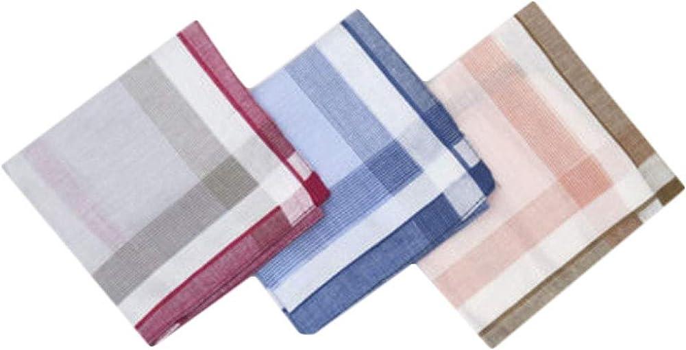 Chinashow A04 - Juego de 3 pañuelos de algodón 100% para hombre ...