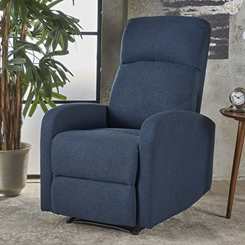 Giovanni Class Fabric Recliner (Navy Blue)