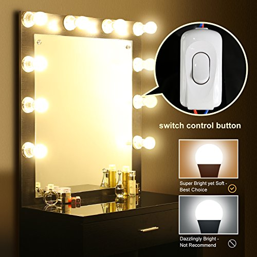 tribesigns vanity set with lighted mirror makeup vanity 20291 | 51bwrths3tl