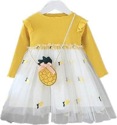USA Toddler Baby Girl Kid Autumn Long Sleeve Lace Floral Princess Tutu Dress lot