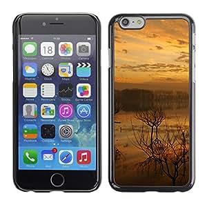 Caucho caso de Shell duro de la cubierta de accesorios de protección BY RAYDREAMMM - iPhone 6 - Sunset Lake