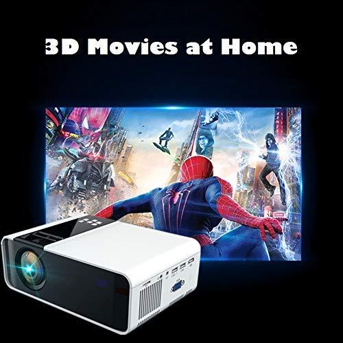 EU Compatible con Doble USB//HDMI//YGA//Interfaz de Auriculares//AV//KTV//Audio Ultra-HD 1080P 8000 l/úmenes Relaci/ón de Contraste 1000: 1 Hakeeta Proyector 3D port/átil