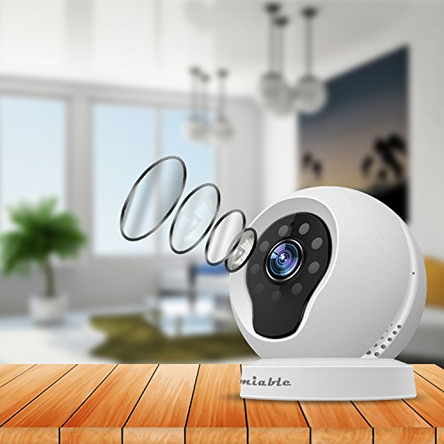Amiable Smart WiFi IP Camera 720P Wireless Network Security Surveillance Video Camera System Nanny/Baby Monitor with Remote Monitoring HD Webcam for Android/iOS/iPhone(White) by AMIABLE (Image #2)