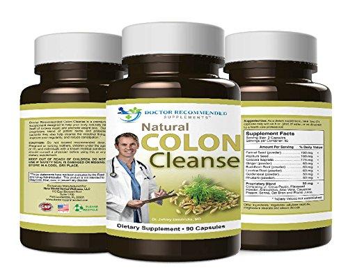 Colon Cleanse naturel - # 1 Docteur formule recommandée - 100% Supplément de perte de poids pur produit - 90 Capsules - Créé et FORMULE PAR vrais médecins ♥