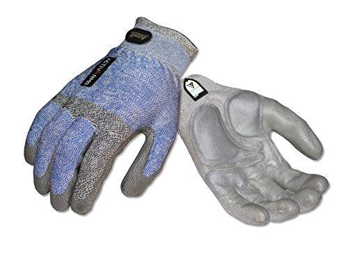 Ansell Cotton Gloves (Ansell ActivArmr 97-004 Multipurpose Mason Gloves, Knitwrist Cuff, Medium (1 Pair))