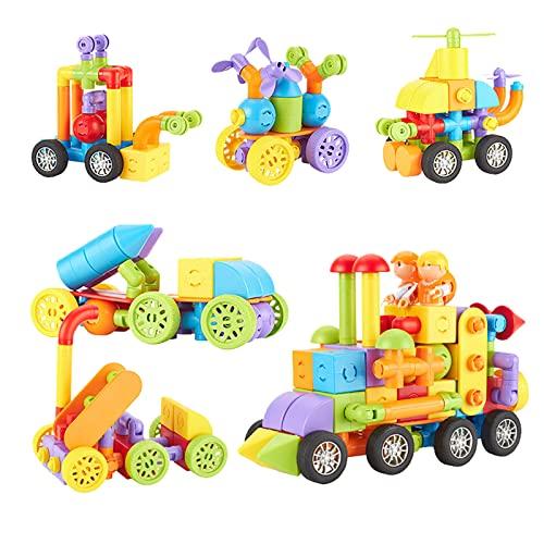 ELTUILMP 69 PCS Magnetic Building Blocks, 3D Magnetic Building Tiles for Kids, Preschool Magnetic Set STEM Toys, Sensory Toys for Toddler, Stacking Block Sets for 3 4 5 6 7 8 Year Old Boys Gilrs Gifts