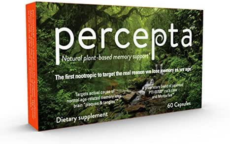 Percepta Natural-Plant Based Memory Support - All Natural Nootropic - Memory, Focus, Clarity - 30 Day Supply