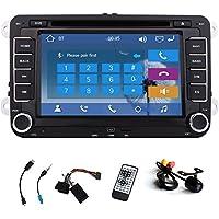 Car DVD CD Player GPS Navigation Stereo Autoradio Radio For Volkswagen VW Jetta Golf Skoda Passat Seat Head Unit+Canbus 7 Inch Touchscreen FM AM iPod Free Backup Camera