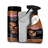 Weiman Leather Cleaner Kit - Non Toxic Restores Leather Surfaces - UV Protectants Help Prevent Cracking or Fading of Leather Couches, Car Seats, Shoes