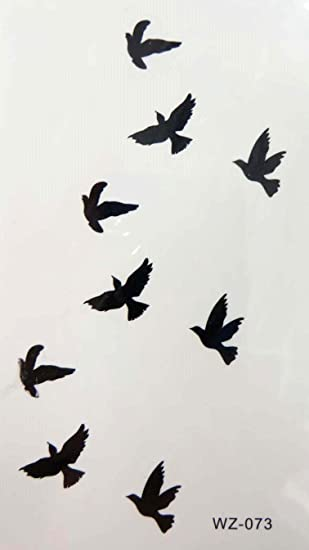 ae71de083 Amazon.com: flying birds temporary tattoo sticker temporary fake ...