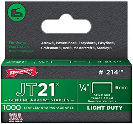 1,000-staples 6 Pack fl/èche Fermeture 214/authentique Jt21//T27/1//10,2/cm Agrafes