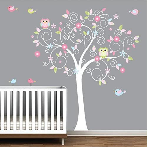 tree wall decal nursery wall decals nursery. Black Bedroom Furniture Sets. Home Design Ideas