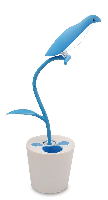 Good ZHOPPY LED Desk Lamp For Kids, 3 Level Dimmer Touch Sensitive Control,  Flexible Gooseneck, Portable Rechargeable Book Light, Bird Pencil Holder,  ...