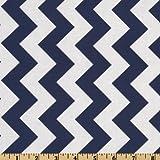 Riley Blake Chevron Medium Navy Fabric By The Yard
