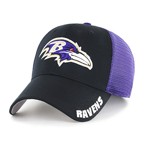 OTS NFL Baltimore Ravens Adult Hursh Center Stretch Fit Hat,
