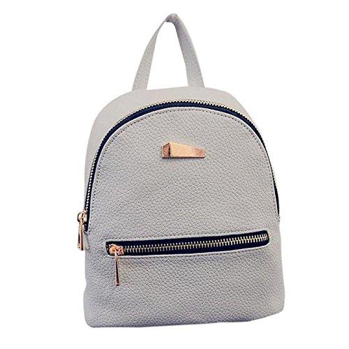Backpack,Han Shi Womens New Fashion Travel Handbag School Bag Rucksack Shell type Bag (Gray, M)