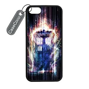 CASECOCO(TM) Favorite TV Series Doctor Who iPhone 5 5s Case- Protective Hard Back / Black Rubber Sides Case for iPhone 5 5s