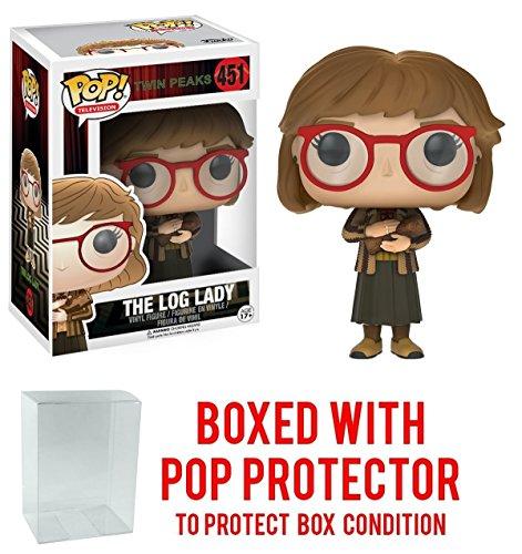 Funko Pop! Television: Twin Peaks - Log Lady Vinyl Figure (Bundled with Pop BOX PROTECTOR CASE) Lady Pop