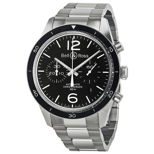 Bell-and-Ross-Vintage-Chronograph-Black-Dial-Mens-Watch-BR126-BL-BE-SS