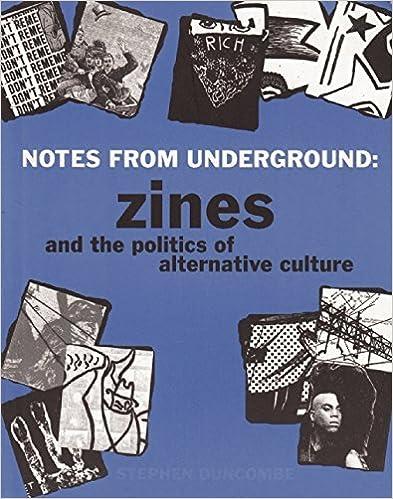 E-Books auf Italienisch herunterladen Notes from Underground: Zines and the Politics of Alternative Culture by Stephen Duncombe auf Deutsch PDF DJVU