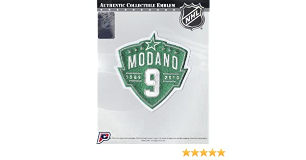 0dce3b296 ... Amazon.com Dallas Stars Retirement Ceremony Patch Mike Modano Jersey 9  (1989-2010 ...