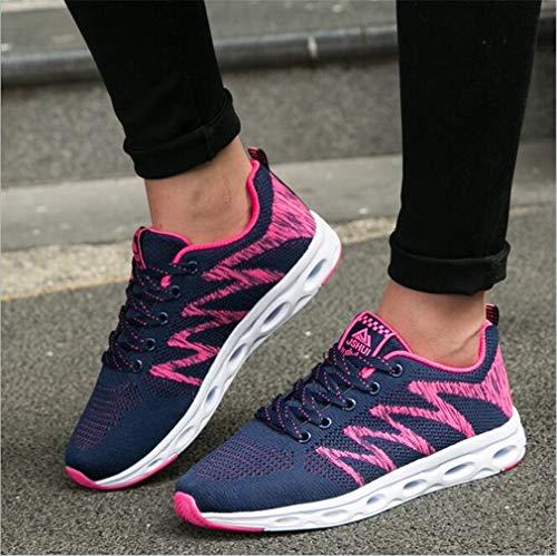 donna B New donna Exing Scarpe da Mesh Scarpe moda da stringate Sneakers Autunno Casual leggere Scarpe IqvZwWZTc