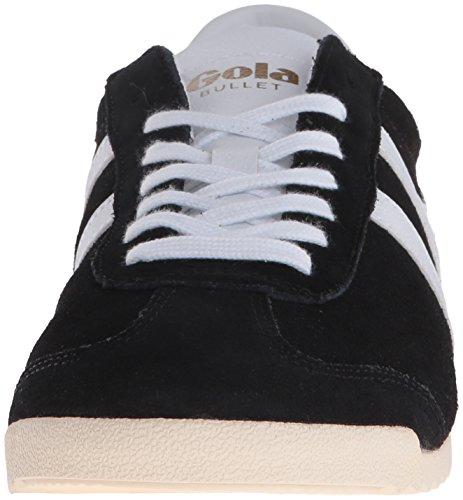 Gola Mens Bullet Sneaker In Camoscio Fashion Nero / Bianco