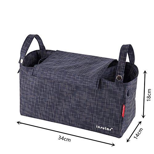 Momia pañal bolsa bebé para cambio de pañales organizador cochecito/cochecito de bebé/cochecito/cochecito 7celdas azul Sapphire azul marino