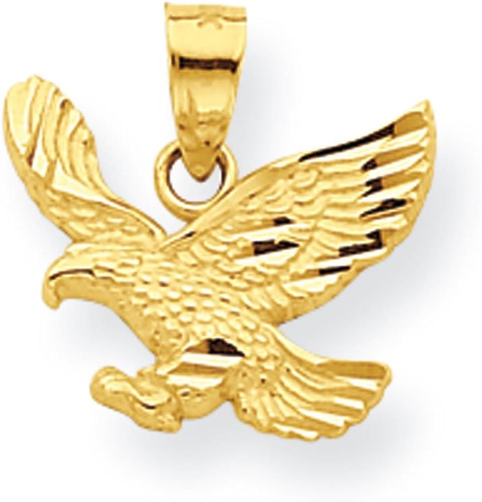 10k Eagle Charm New Pendant Yellow Gold