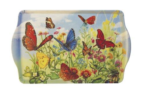 Butterfly Garden Handled Melamine Serving Tray - Garden Melamine Handled Tray
