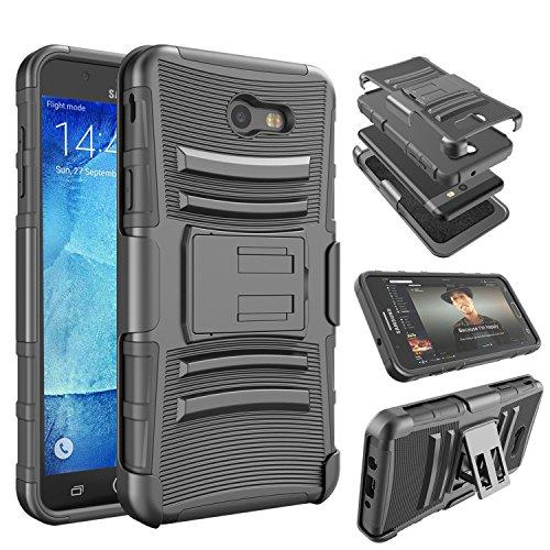 Cheap J7 2017 Case, J7 Perx Case,J7 Sky Pro Case, Tinysaturn(TM) [Ystorm Series] [Black] Shock Absorbing Belt Clip Holster Built-In Kickstand Defender Protective Cover Case For Samsung Galaxy J7 2017 / J7 V