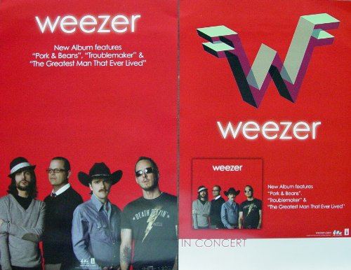 Weezer Poster Red Double Sided