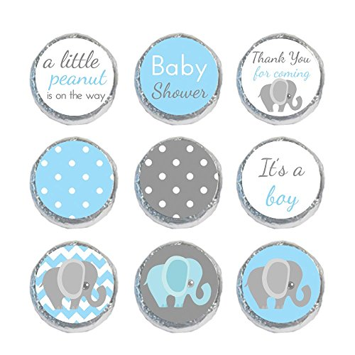 Mini Candy Stickers Blue & Gray Elephant Set of 324 ()