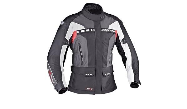 Ixon - Chaqueta Moto Corsica Lady Negro/Gris/Rojo: Amazon.es: Coche y moto