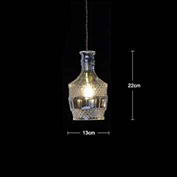 DHG Sola lámpara de Cristal de Cristal, Restaurante Bar Bar Mesa de café lámpara de